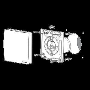 Maico AWB 120 HC - с датчиком влажности и обратным клапаном